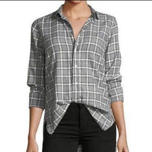 Frank & Eileen Shirley grey Plaid shirt